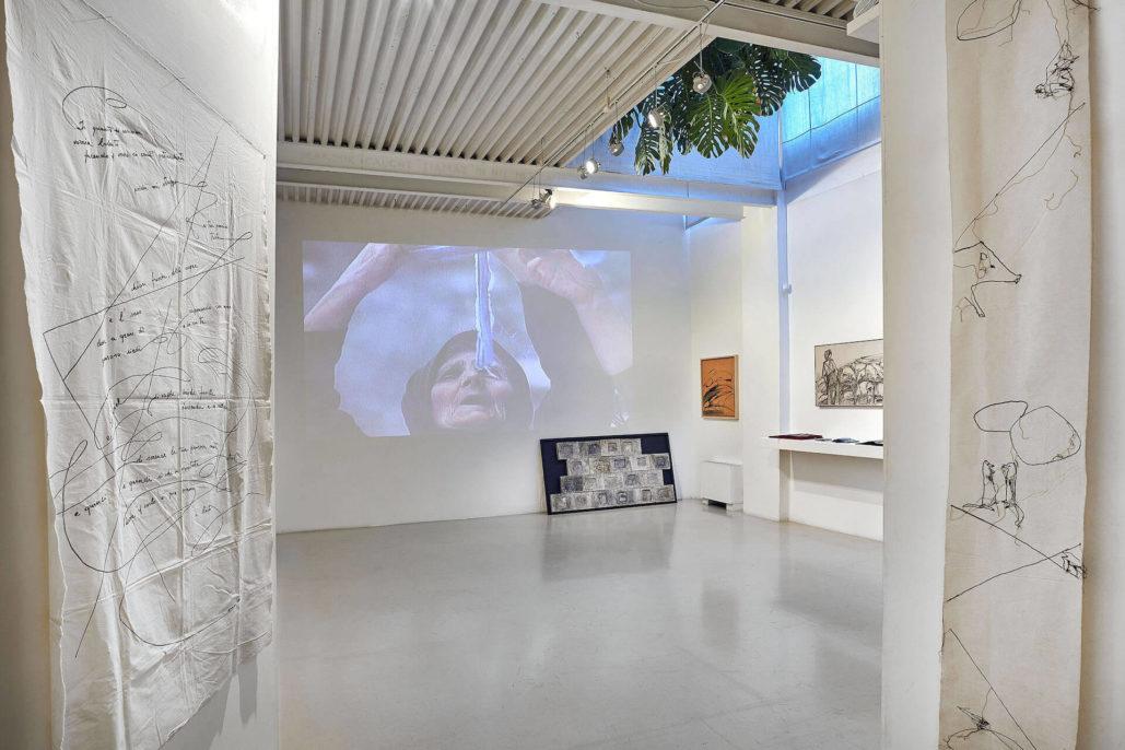 Maria Lai, Pagine, 2018, Studio Stefania Miscetti, exhibition view, photo by Simon d'Exéa