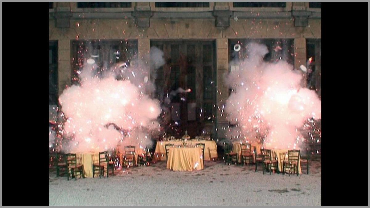 Loredana Longo, Explosion #15 _ The Wedding Feast, 2007, still