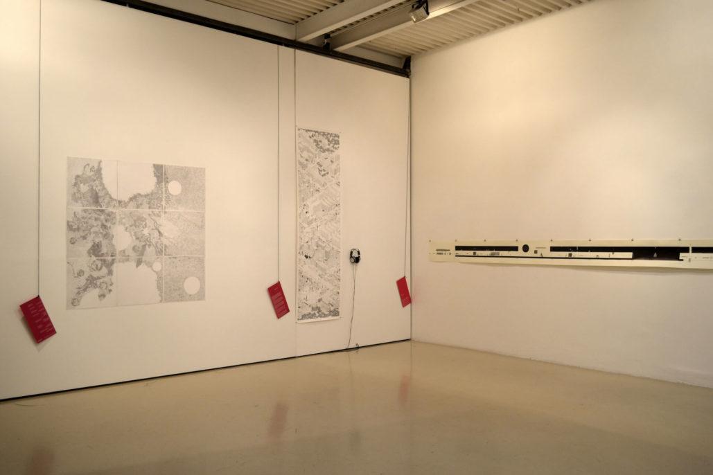 Dalla terra alla luna, group exhibition, Studio Stefania Miscetti, exhibition view