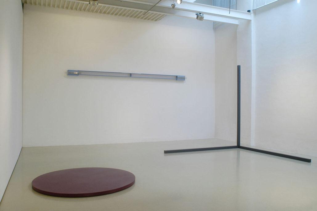 Gianni Piacentino, 2008, exhibition view, Studio Stefania Miscetti