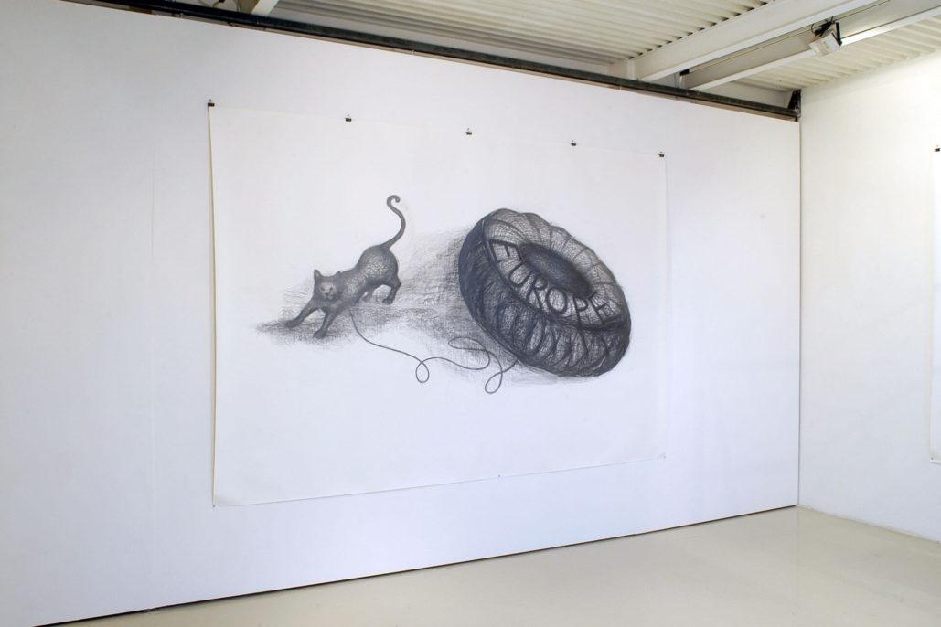 Paolo Canevari, Continenti, 2007, Studio Stefania Miscetti, exhibition view, photo by Humberto Nicoletti Serra