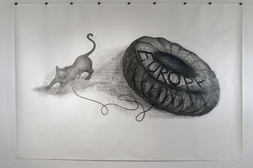 Studio Stefania Miscetti | Contemporary Art Rome | Exhibition: Paolo Canevari - Continenti