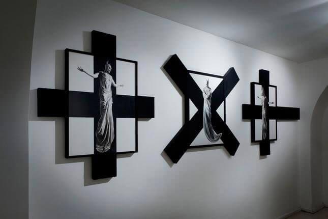 Adrian Tranquilli, In excelsis, 2012, Studio Stefania Miscetti, exhibition view, photo Humberto Nicoletti Serra