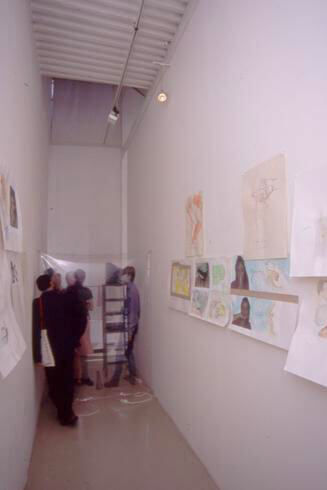 Eric Madeleine, Habitudes - Fictions, 2001, exhibition view