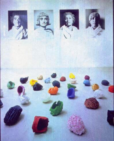 Gia Domenico Sozzi, tête à tête, 1992, exhibition view