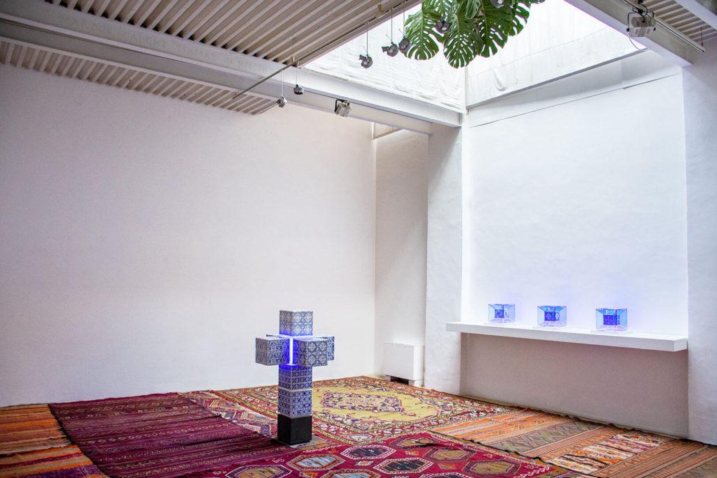Ignasi Monreal, Mi manchi come il Wi-Fi, 2019, exhibition view