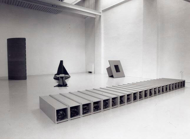 Judith Cowan, Sex, Birth, Sex, Death, 1995, exhibition view