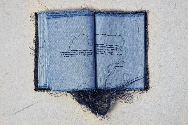 Maria Lai, Libro cucito, 1996, photo by Simon d'Exéa