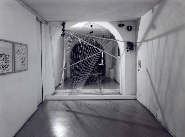 Maria Lai, Una fiaba infinita, 1994, exhibition view
