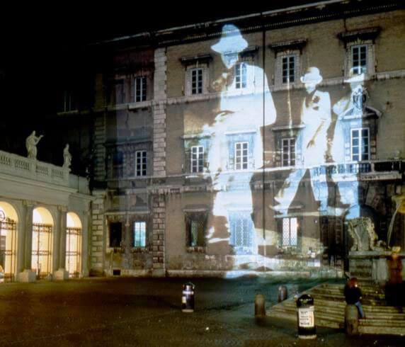 Maurizio Pellegrin, Projected Artists Obiettivo: Roma, III/V A Venetian Man, exhibition view