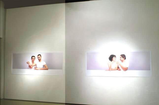 Nordine Sajot, Vivono e lavorano a Roma, 2008, Studio Stefania Miscetti, exhibition view, photo by Humberto Nicoletti Serra