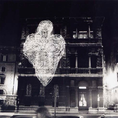 Paolo Canevari, Projected artists, Obiettivo: Roma II/V Mostro, exhibition view