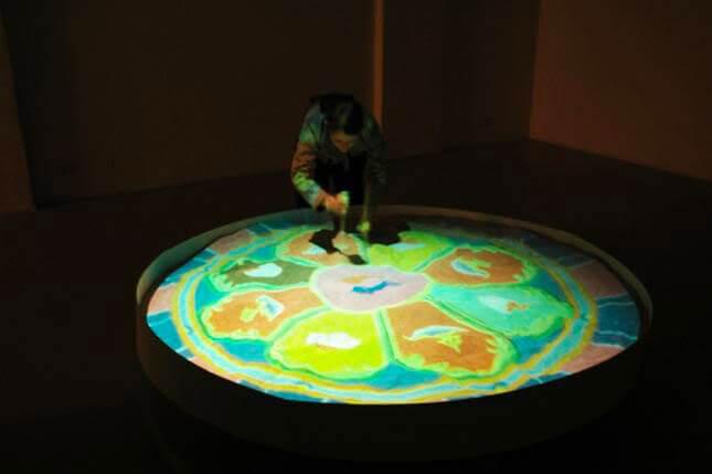 Victoria Vesna, Nanomandala, 2005, exhibition view