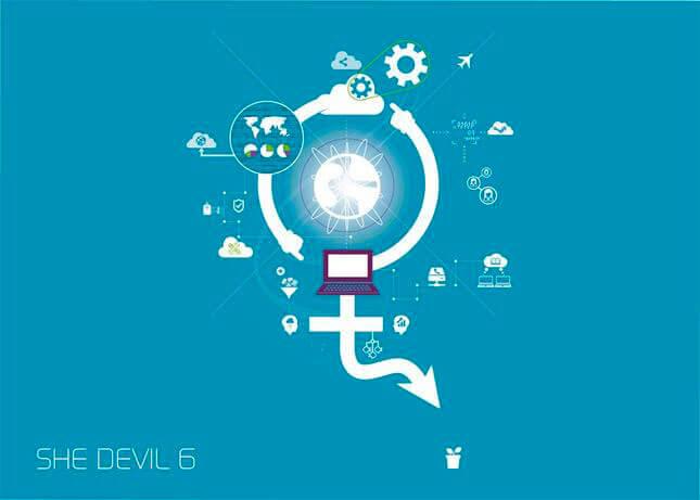 SHE DEVIL VI, video exhibition, 2014, Invitation logo