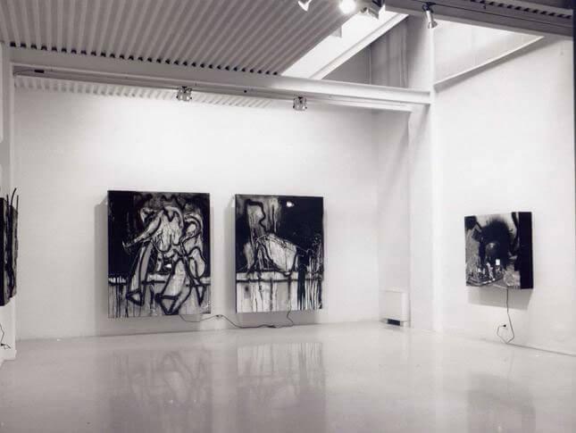 Wolf Vostell, La caduta del muro, 1992, exhibition view