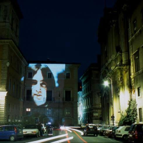 Yoko Ono, Projected Artists, Obiettivo: Roma, IV/V Smile event, 1996, exhibition view