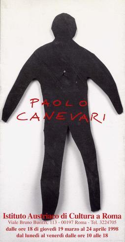 Paolo Canevari, invito alla mostra all'Istituto Austriaco, 1998