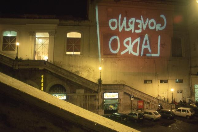 Prima Puntata, 1994, projection at Palazzo delle Esposizioni