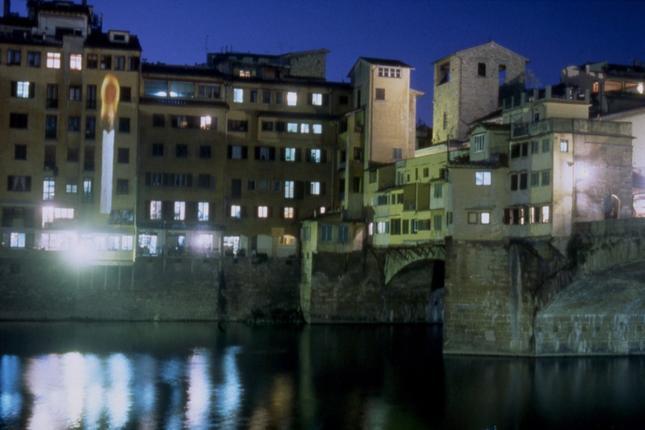 Yoko Ono, Lighting Piece, 1995, Ponte Vecchio, Florence