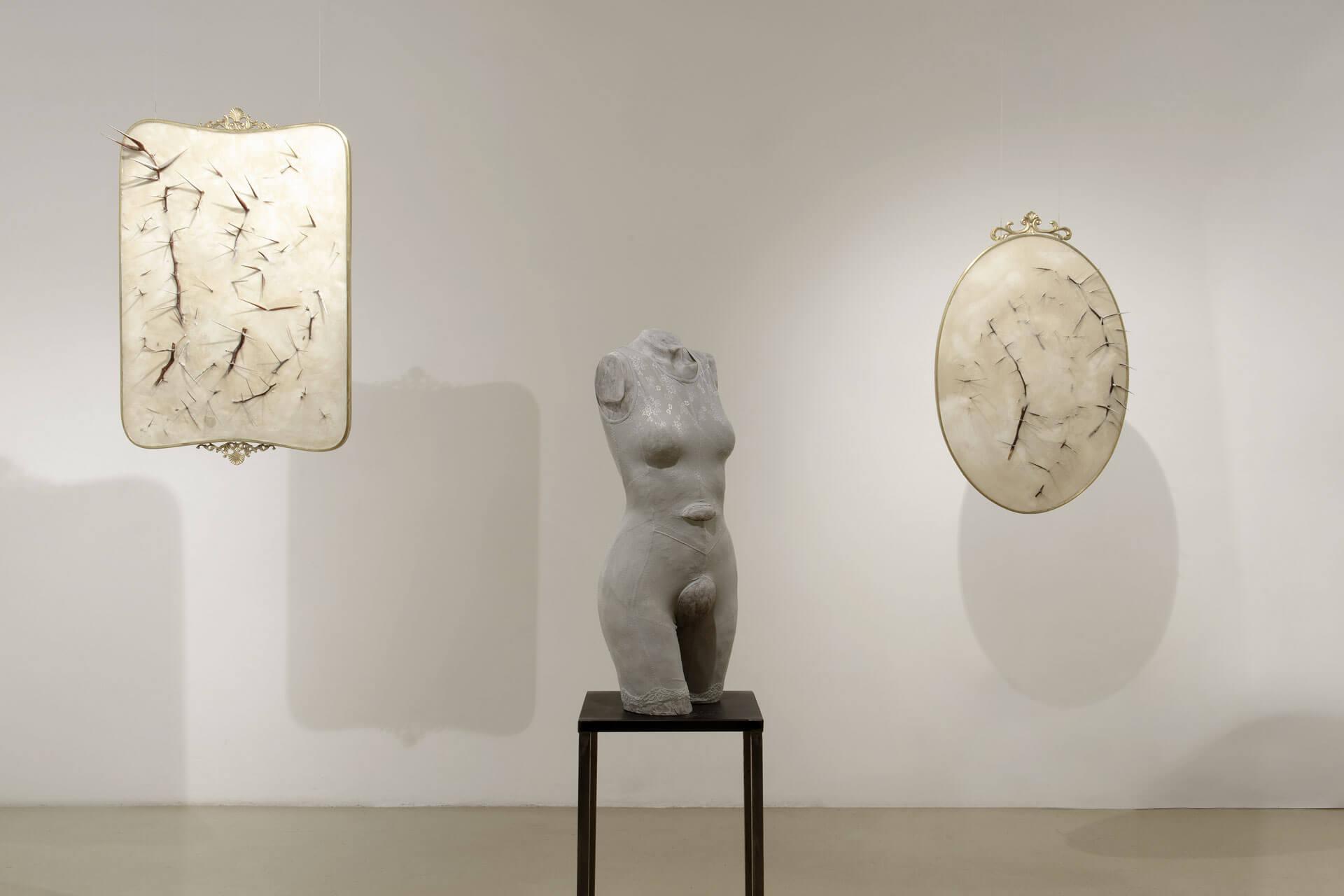 Silvia Giambrone, Il danno, 2018, exhibition view, photo by Giordano Bufo