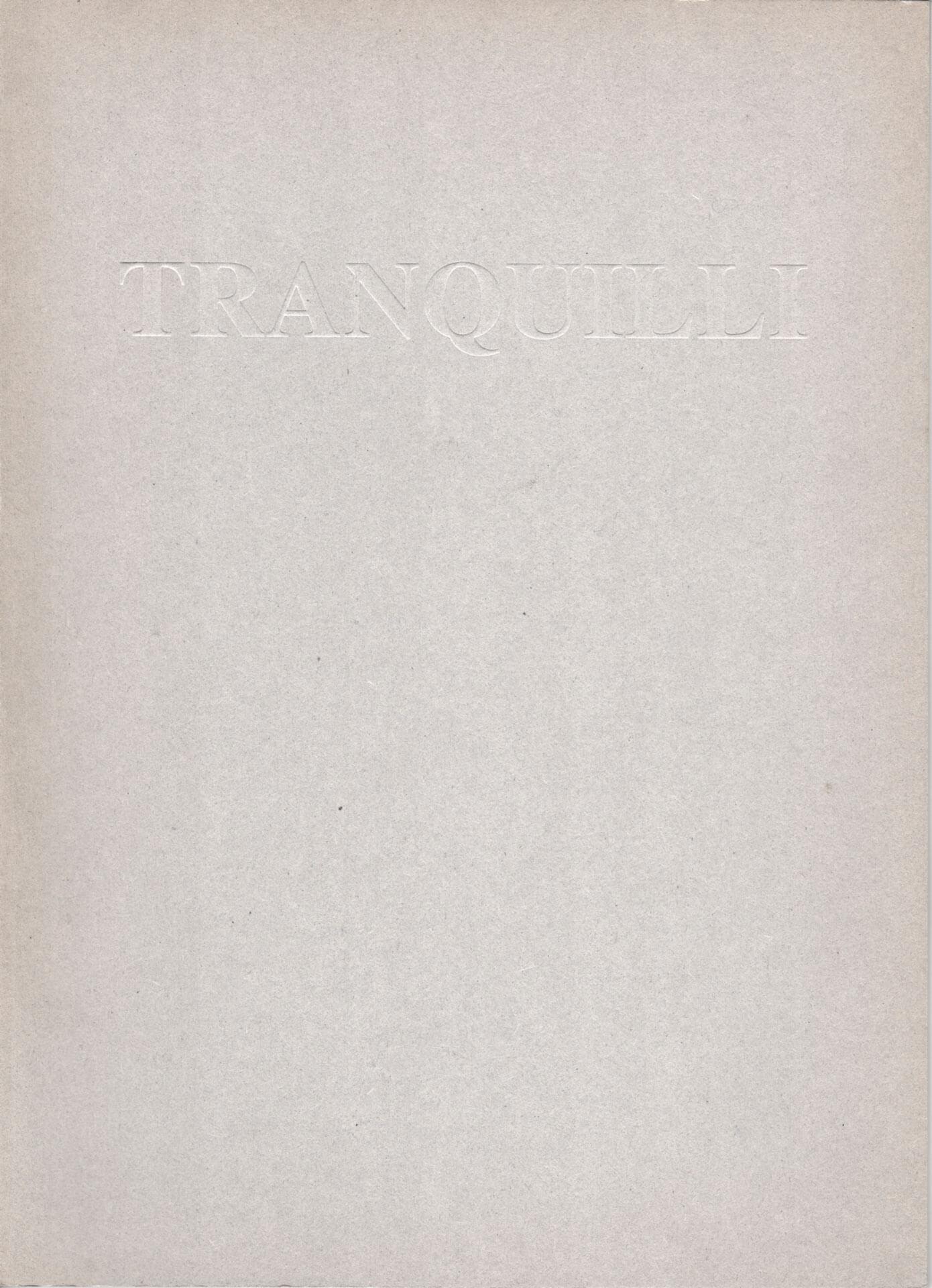 Studio Stefania Miscetti | Catalogues | Adrian Tranquilli | Sei senza nome