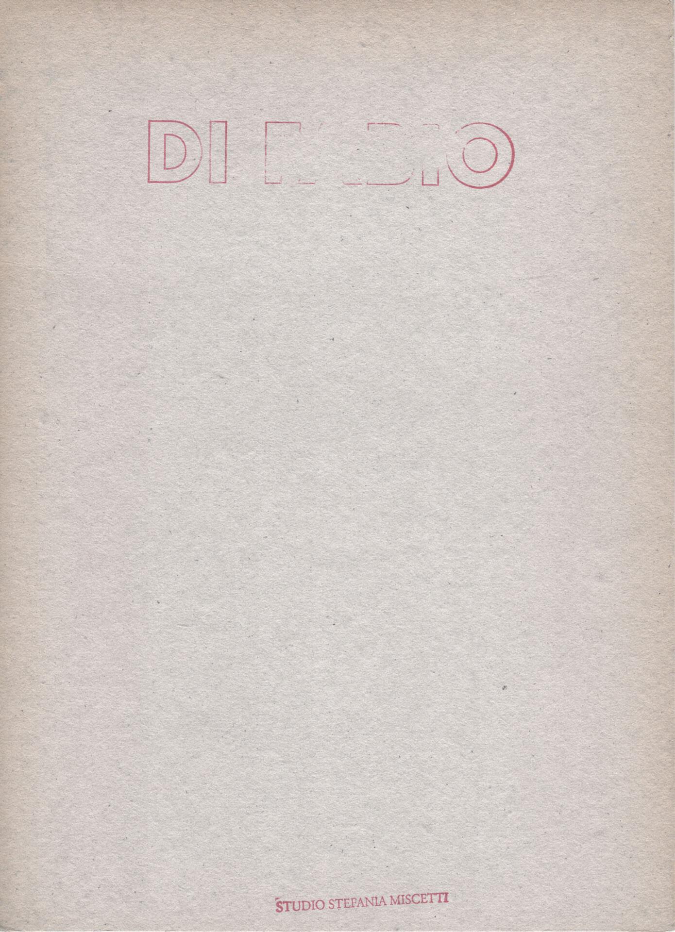 Studio Stefania Miscetti | Catalogues | Alberto Di Fabio | Il profilo insonne della terra