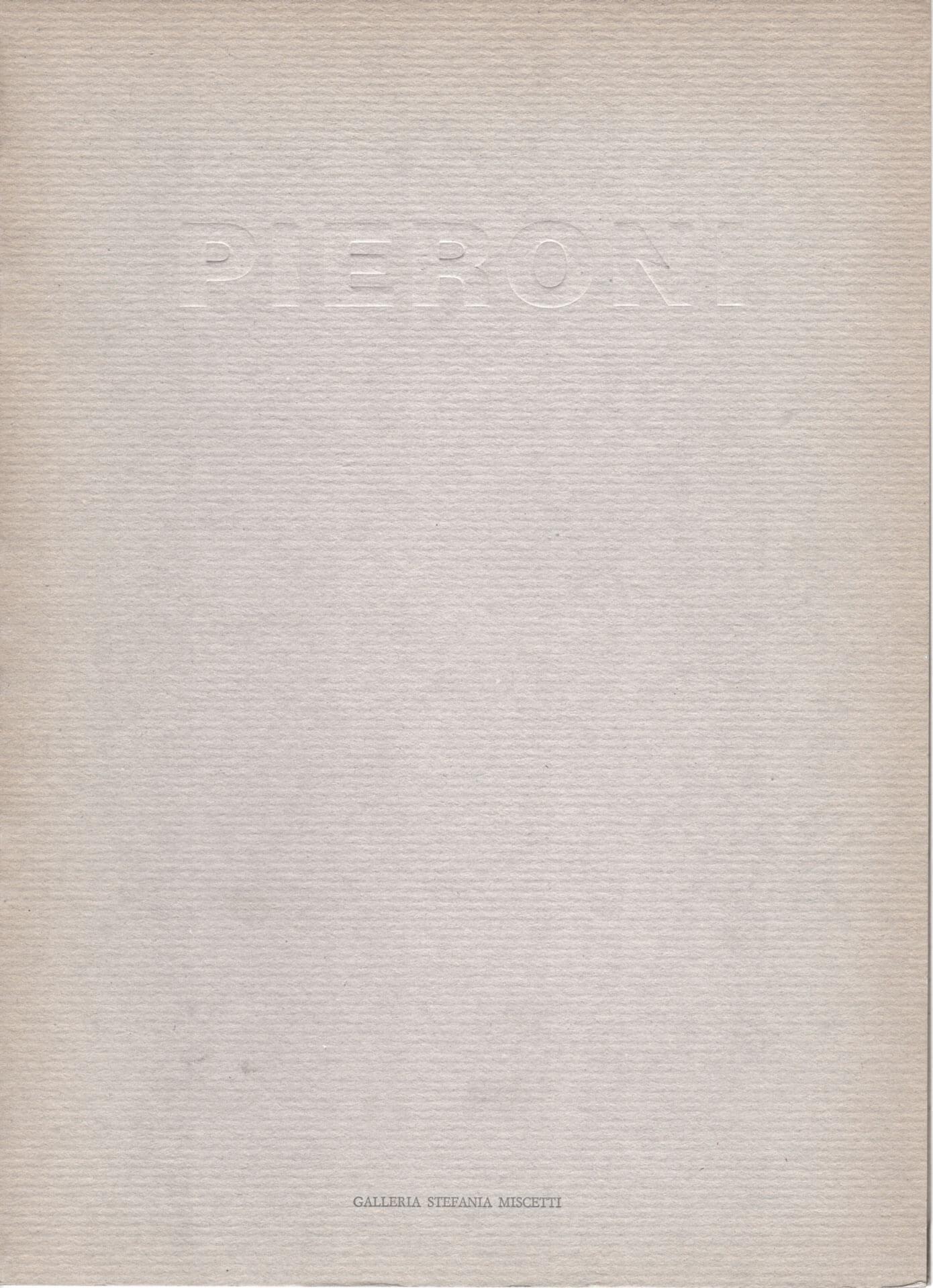Studio Stefania Miscetti | Catalogues | Claudio Pieroni | Sala macchine