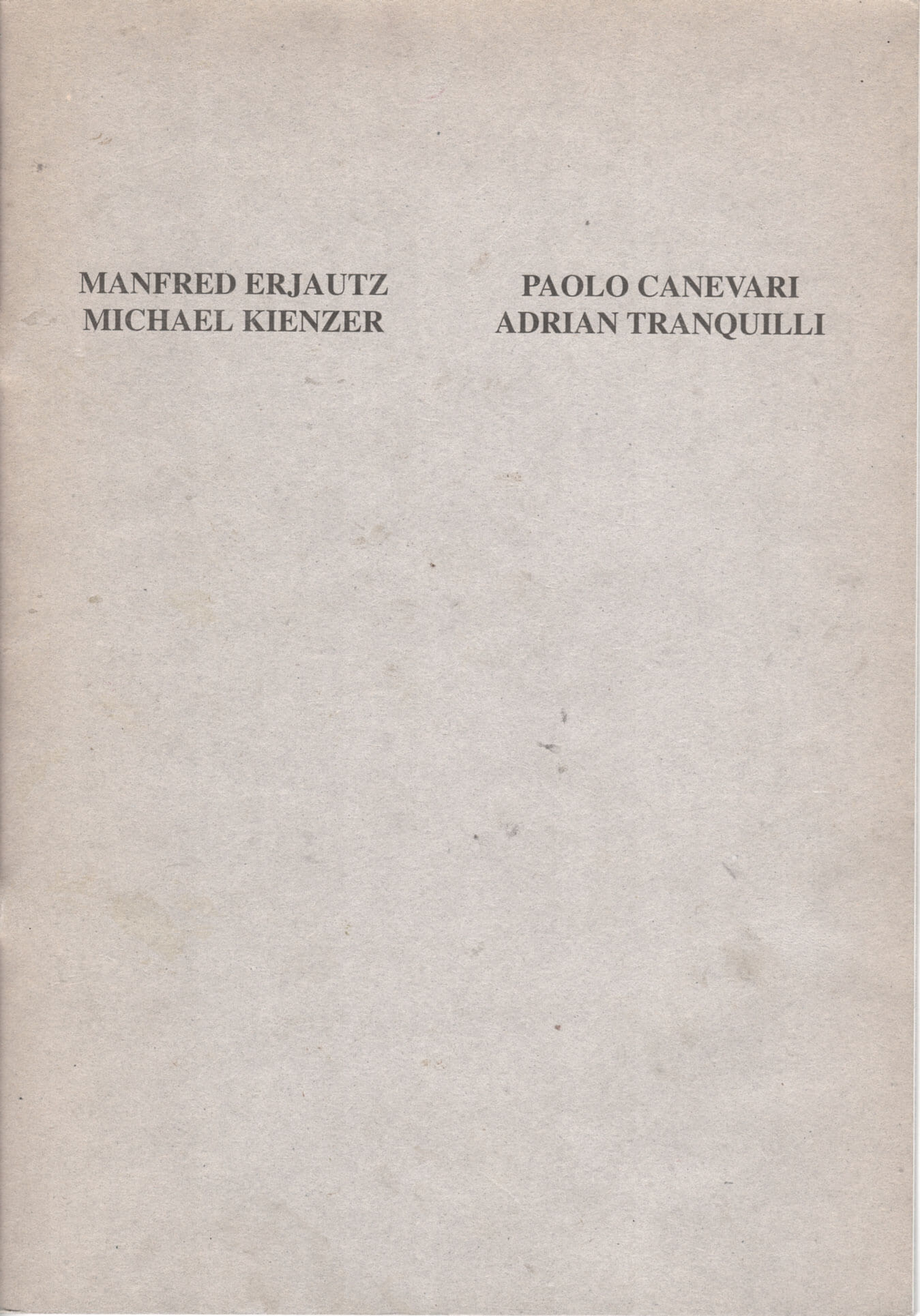 Studio Stefania Miscetti | Catalogues | Erjautz Kienzer Canevari Tranquilli