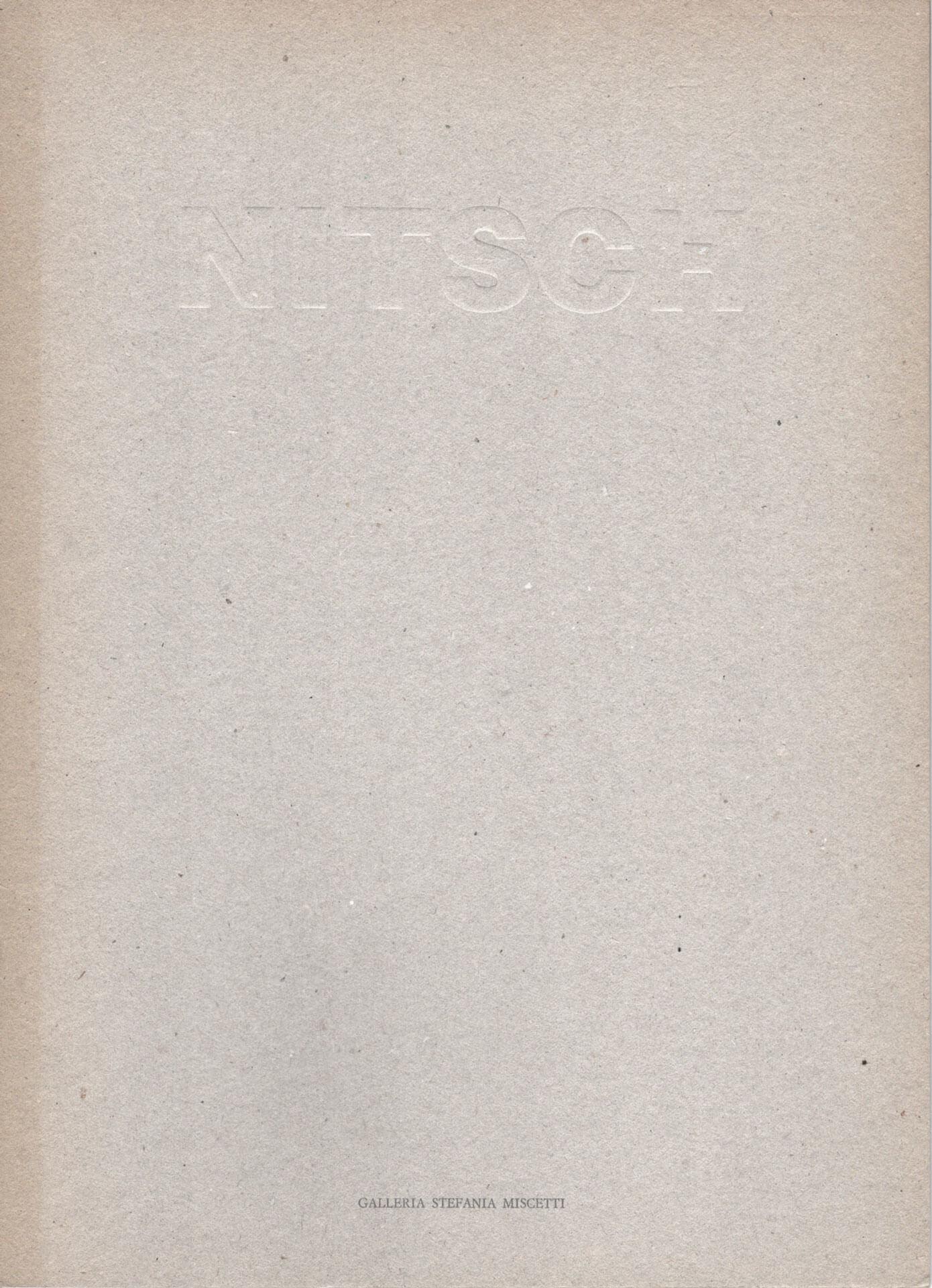 Studio Stefania Miscetti | Catalogues | Hermann Nitsch | Opere recenti e reperto dell'84 azione