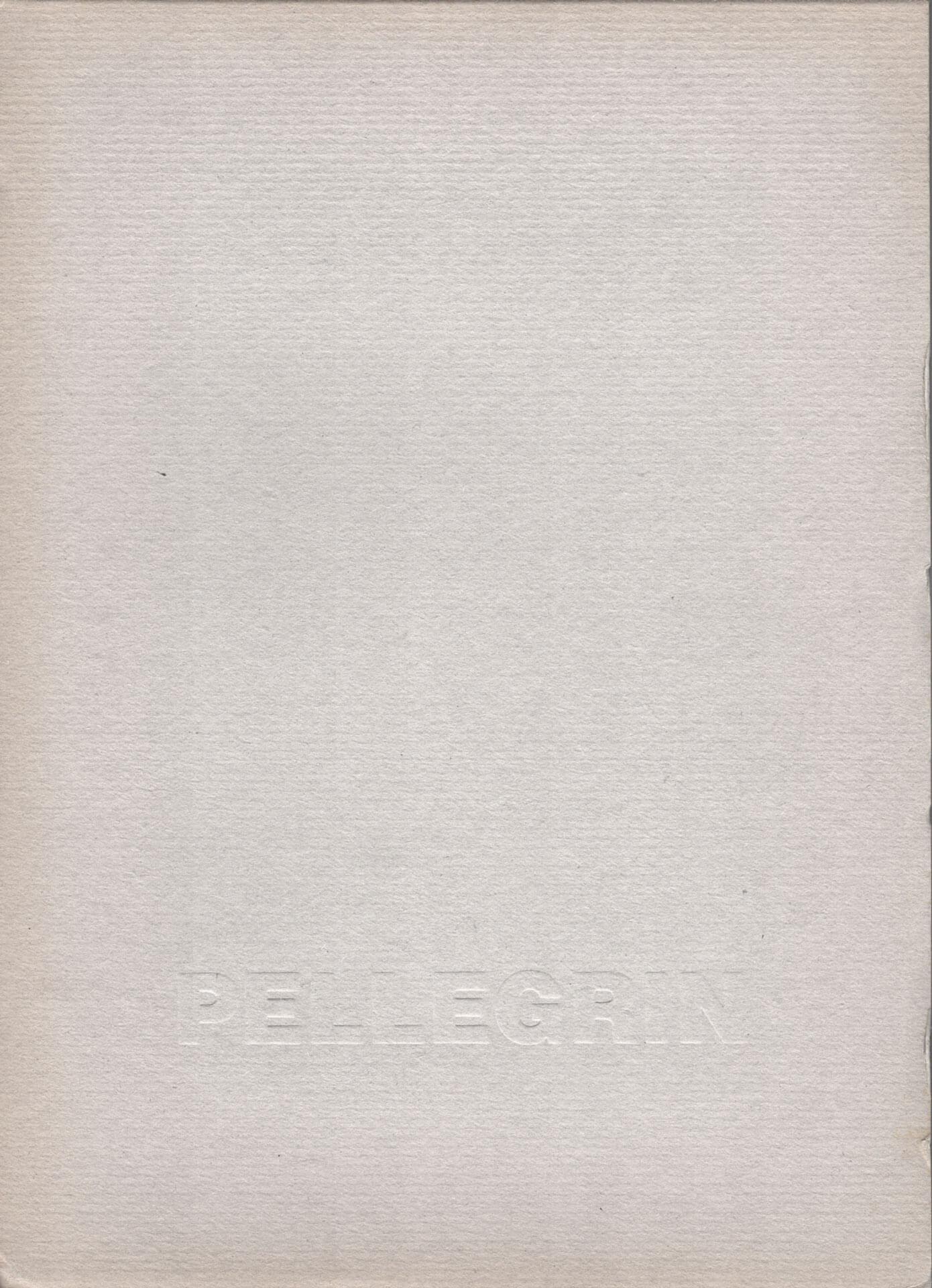 Studio Stefania Miscetti | Catalogues | Luigi Pellegrin | Alle porte dell'architettura