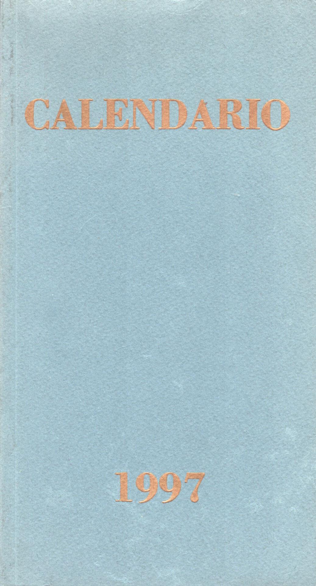 Studio Stefania Miscetti | Catalogues | Paolo Canevari | Calendario
