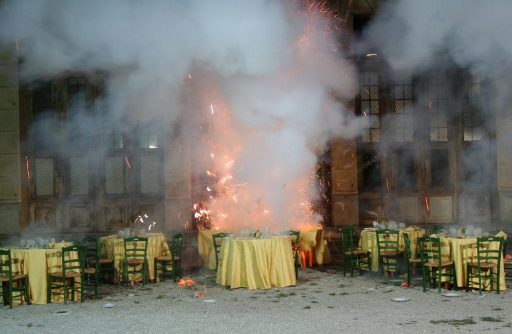 Loredana Longo, Explosion #15, The Wedding Feast, 2007, courtesy of the artist; Prometeogallery di Ida Pisani, Milan; Francesco Pantaleone Arte Contemporanea, Palermo