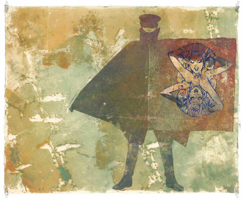Nancy Spero, The Red Cape, 1995
