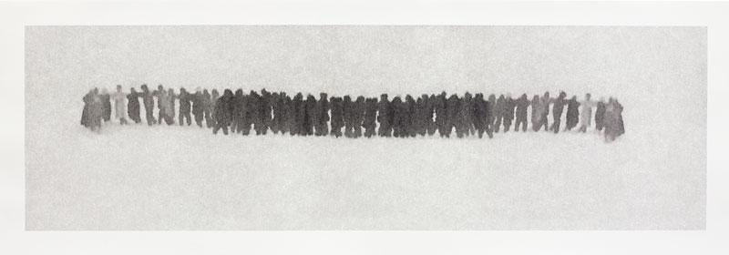 Michal Rovner, Dissolve, in Coexistence, 2003