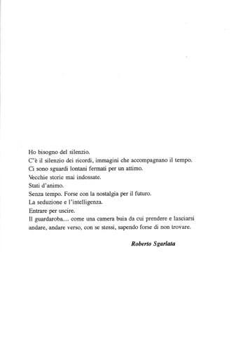 Roberto Sgarlata, Vestire il silenzio, 1993, catalogue