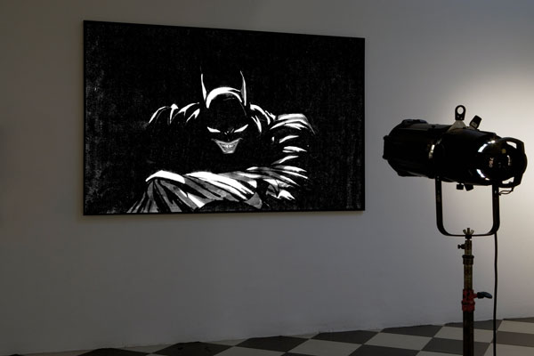 Adrian Tranquilli, Don't Forget the Joker 1, 2006, projection on print on PVC, 168x251x5 cm, photo by Claudio Abate