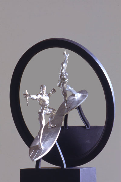 Adrian Tranquilli, Futuro imperfetto, 1998, Silver Surfer, Tempus Fugit, photo by Claudio Abate