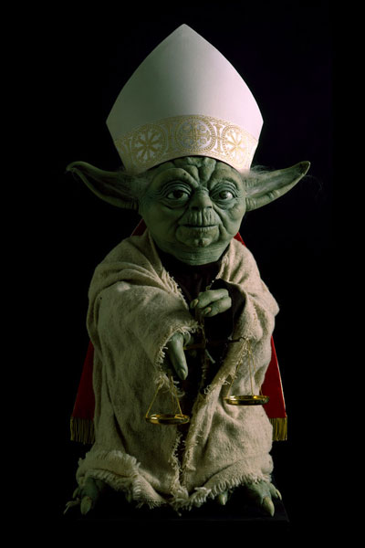Adrian Tranquilli, Futuro imperfetto, 1998, Yoda, The day after,photo by Claudio Abate