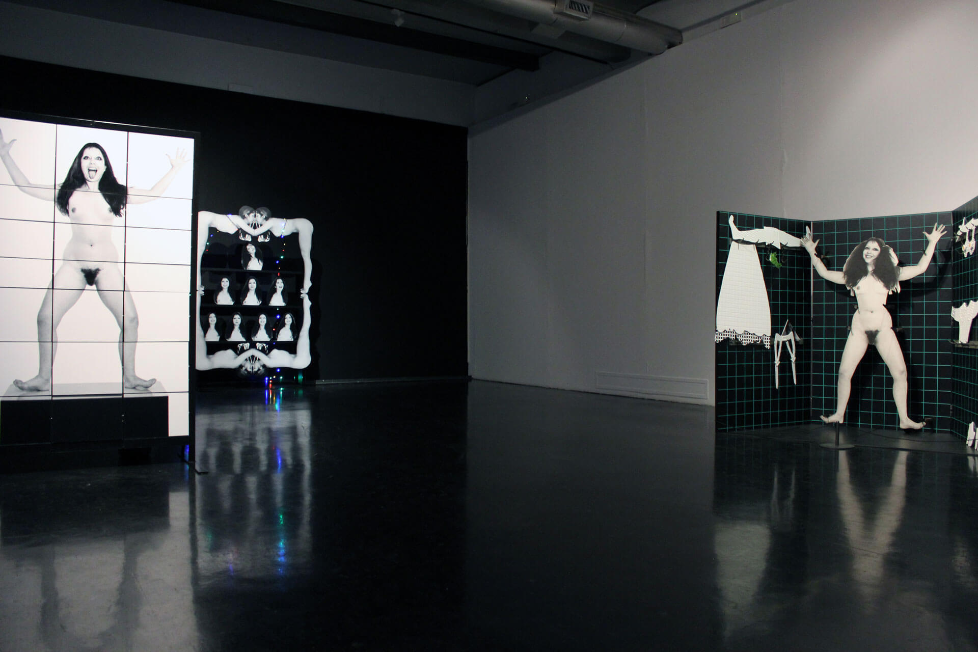 ORLAN, VideORLAN - Technobody, 2017, exhibition at MACRO